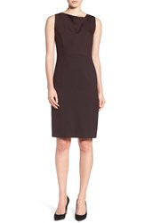 Emerson Rose Women's 'Diana' Sleeveless Drape Neck Sheath Dress