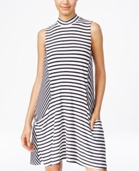 Trixxi Juniors' Striped A Line Dress Navy