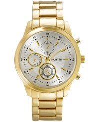 Unlisted Men's Chronograph Gold Tone Bracelet Watch 45Mm 10027764 Only At Macy's