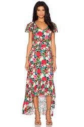 Wildfox Couture Floral Maxi Dress Black