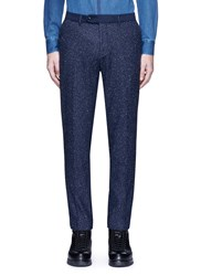 Scotch And Soda 'Stuart' Slim Fit Slub Wool Blend Pants Blue