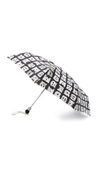 Marc By Marc Jacobs Stacked Logo Umbrella Black Multi