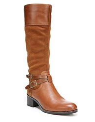 Franco Sarto Lapis Knee High Leather Boots Cognac