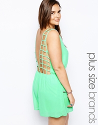Alice And You Cage Back Playsuit Green