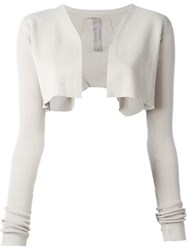Rick Owens Cropped Cardigan Grey