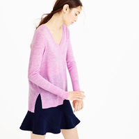J.Crew Merino Wool V Neck Tunic Sweater