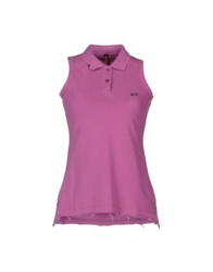 Sun 68 Polo Shirts Mauve