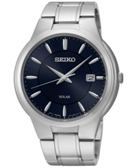 Seiko Men's Solar Dress Stainless Steel Bracelet Watch 42Mm Sne403