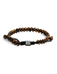 Zack Tigers Eye Double Row Beaded Bracelet Tiger Eye