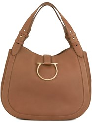 Salvatore Ferragamo 'Sabine' Tote Brown