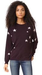 Chinti And Parker Slouchy Star Cashmere Sweater Oxblood Powder Pink