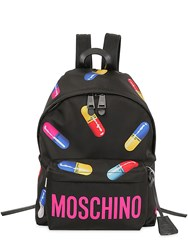 Moschino Pills Printed Nylon Backpack