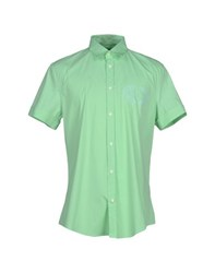 Dirk Bikkembergs Shirts Shirts Men Light Green