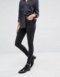Vero Moda High Waist Super Slim Jean Black