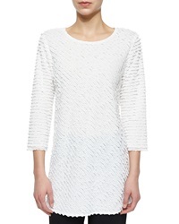 Caroline Rose Layered Ruffle Tunic White