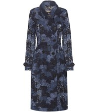 Burberry Macrame Lace Trench Coat Blue