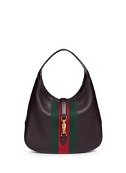 Gucci 'Jackie Soft' Medium Pigprint Leather Hobo Bag Brown Multi Colour