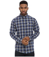 Matix Clothing Company Robinson Woven Top Blue Men's Long Sleeve Button Up