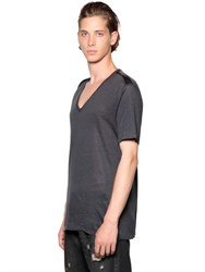 The Kooples V Neck Linen Jersey T Shirt