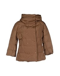 Historic Coats And Jackets Down Jackets Women Brown