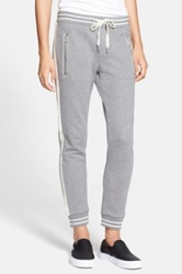 Haute Hippie Baseball Sweatpants Gray