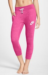 Nike 'Gym Vintage' Capri Sweatpants Pink