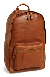 Fossil 'Ledge' Leather Backpack Cognac