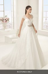 Women's Rosa Clara 'Exotico' Beaded Lace And Tulle Ballgown In Stores Only