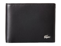 Lacoste Fg Small Billfold Id Slot Black Bill Fold Wallet