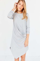 Silence And Noise Xander Drape Side Midi Dress Grey