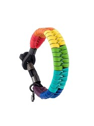 Dsquared2 Rainbow Braided Bracelet Multicolour