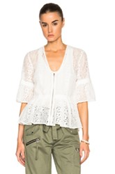 Marissa Webb Moritz Lace Top In White