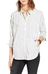 Women's Bp. Stripe Flannel Shirt