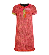 Boutique Moschino Contrast Trim Tweed Dress Female Pink