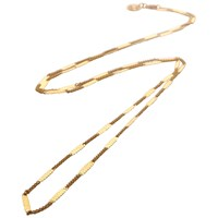 Mirabelle Flat Curb Chain Necklace Gold