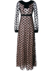 N 21 No21 Embroidered Star Gown Black