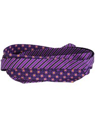 Etro Multiprint Belt Pink And Purple