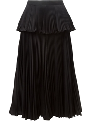 Issa Accordian Pleats Layered Skirt Black