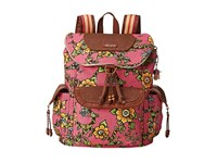 Sakroots Artist Circle Flap Backpack Strawberry True Love Backpack Bags Pink
