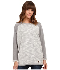 Burton Hubble Crew Canvas Heather Women's Short Sleeve Pullover Gray