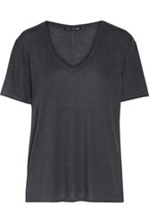 Rag And Bone Concert Slub Stretch Jersey T Shirt Dark Gray