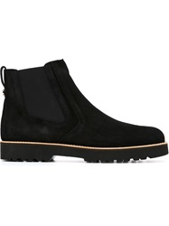 Hogan Slip On Ankle Boots Black