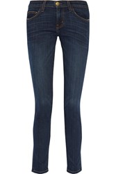Current Elliott The Ankle Skinny Faded Mid Rise Skinny Jeans Blue