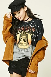 Forever 21 Acdc Graphic Tour Tee Black Red
