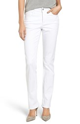 Nydj Women's 'Marilyn' Stretch Straight Leg Jeans Optic White