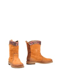 Fabi Ankle Boots Tan