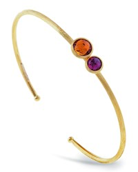 Jaipur 18K Two Stone Bangle Bracelet Lemon Citrine Marco Bicego