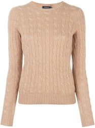 Polo Ralph Lauren Cable Knit Jumper Brown