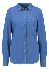 Lee Shirt Washed Blue Blue Denim