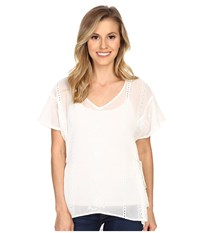 Ariat Andrea Top Snow White Women's Short Sleeve Pullover